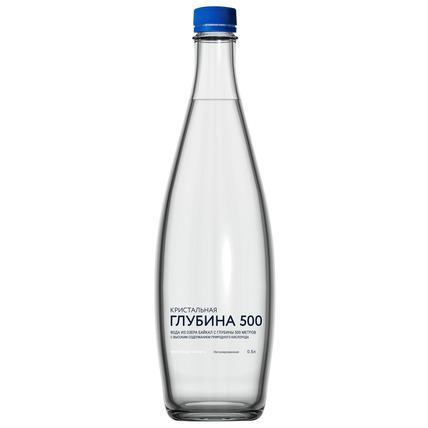 Глубинная байкальская вода «Кристальная глубина БАЙКАЛА», ПЭТ 0.5 литра - купить и заказать с доставкой