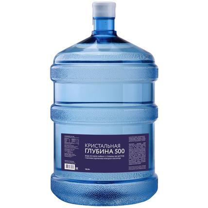 Бутилированная глубинная байкальская вода «Кристальная глубина 500», ПЭТ 19 л (одноразовая бутыль) - купить и заказать с доставкой
