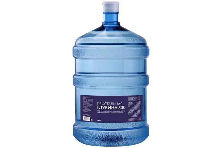 Бутилированная глубинная байкальская вода «Кристальная глубина 500», ПЭТ 19 л (одноразовая бутыль)