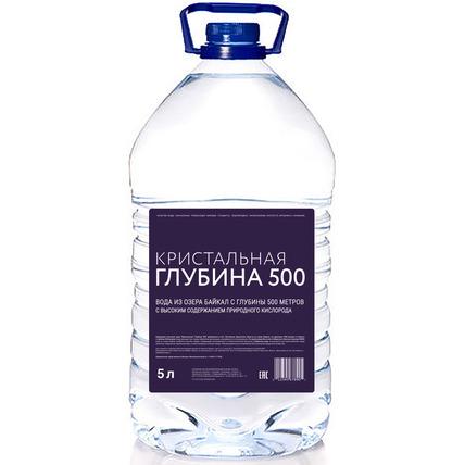 Глубинная байкальская вода «Кристальная глубина 500», ПЭТ 5 литров