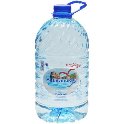 Глубинная байкальская вода Байкалика, ПЭТ 5 литров
