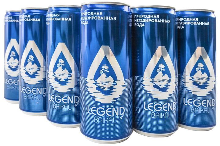 Глубинная байкальская вода Легенда Байкала (LEGEND OF BAIKAL), ЖБ 0.33 литра