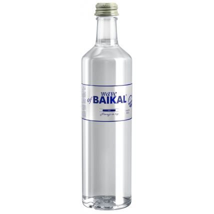 Питьевая вода Волна Байкала (Wave of BAIKAL) без газа стекло 0.5 литра