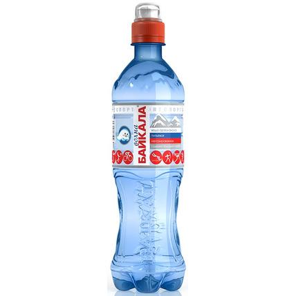 Природная вода Волна Байкала (Wave of BAIKAL) SPORT, ПЭТ 0.5 литра