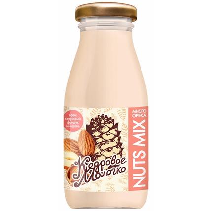 Кедровое молочко Sava Nuts MIX с фундуком и миндалем, стекло 200 мл
