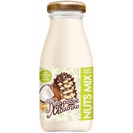 Кедровое молочко Sava Nuts MIX c кокосом и кешью, стекло 200 мл