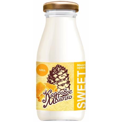Кедровое молочко Sava с медом, стекло 200 мл