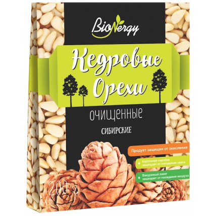 Кедровые орехи BioNergy очищенные, 200 г