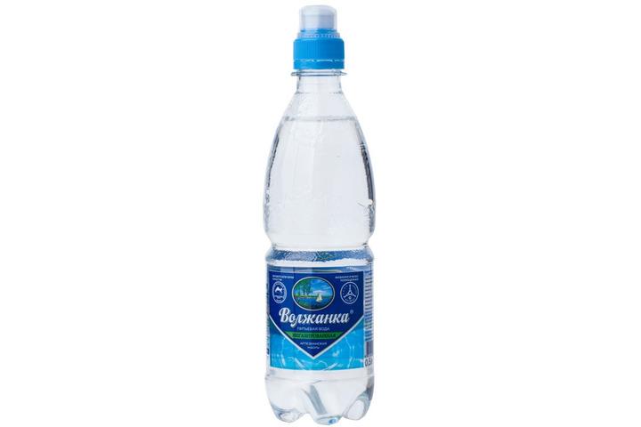 Вода питьевая Волжанка без газа спорт 0.5 литра