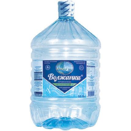 Бутилированная питьевая вода Волжанка, ПЭТ 19 л (одноразовая бутыль) - купить и заказать с доставкой