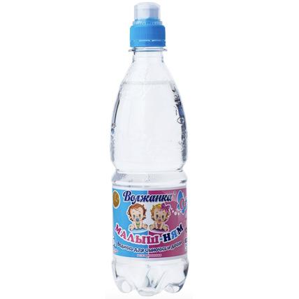 Детская вода «Малыш-ням» питьевая негазированная, ПЭТ 0.5 литра