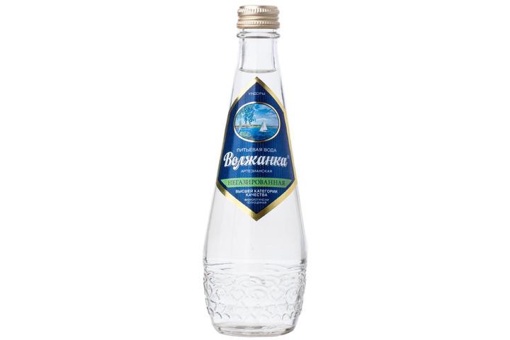 Вода питьевая Волжанка без газа стекло 0.33 литра