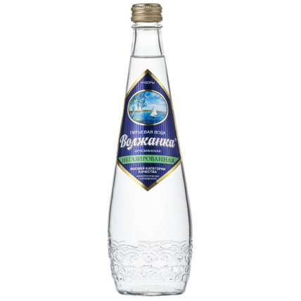 Вода питьевая ВОЛЖАНКА без газа стекло 0.5 литра