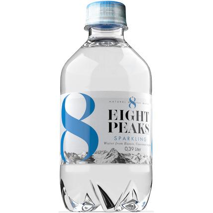 Вода Eight Peaks газированная минеральная природная столовая питьевая, ПЭТ 0.39 ...