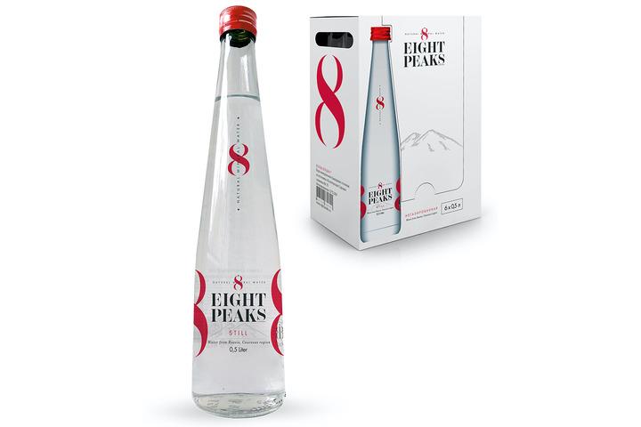 Минеральная вода Eight Peaks (8 Вершин), стекло 0.5 литра