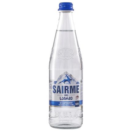 Вода Sairme родниковая, стекло 0.5 литра