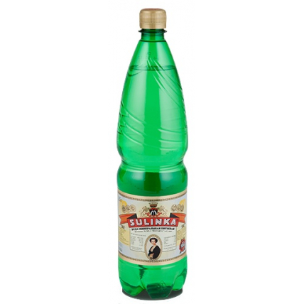 Вода Sulinka газированная минеральная лечебно-столовая природная, ПЭТ 1.25 литра