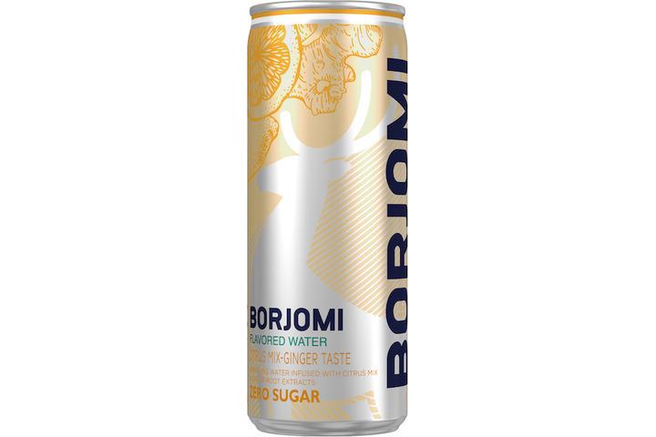 Напиток Borjomi Flavored на основе минеральной природной воды с экстрактами цитрусов и корня имбиря, без сахара, ЖБ 0.33 литра