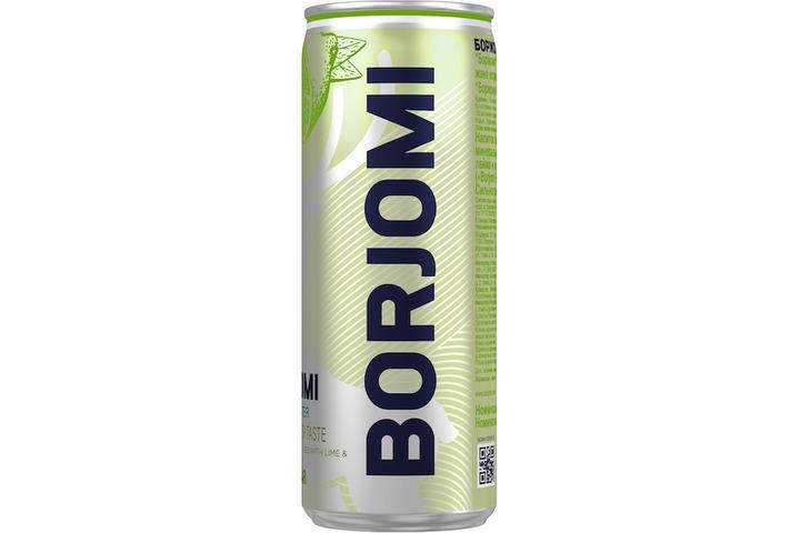 Напиток Borjomi Flavored на основе минеральной природной воды с экстрактами лайма и кориандра, без сахара, ЖБ 0.33 литра