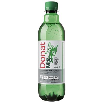 Вода минеральная природная питьевая лечебная Donat Mg, ПЭТ 0.5 литра