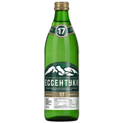 Лечебная вода Ессентуки №17, стекло 0.45 литра