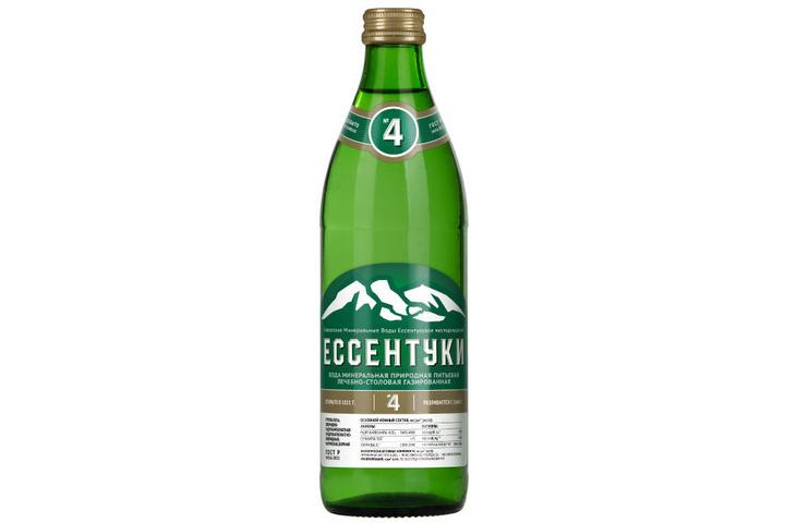Лечебно-столовая вода Ессентуки №4, стекло 0.45 литра