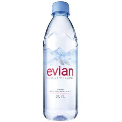 Вода Эвиан (Evian) негазированная 0.5 литра (24 шт.)