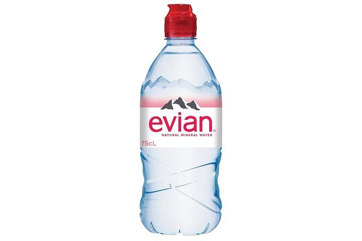 Вода Evian минеральная, негазированная, ПЭТ, 0.75 литра
