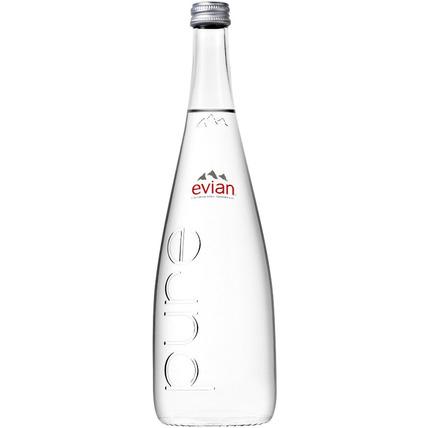 Вода Эвиан (Evian) без газа стекло 0.75 литра