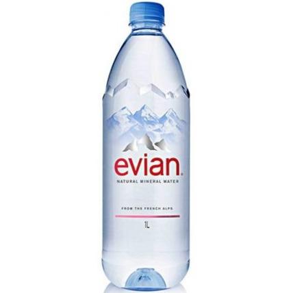 Вода Эвиан (Evian) негазированная 1 литр