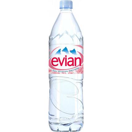 Вода Эвиан (Evian) негазированная 1.5 литра