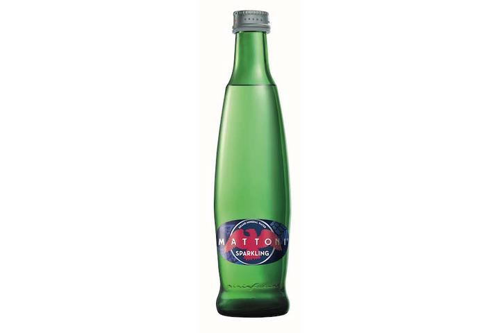 Вода Mattoni минеральная, лечебно-столовая, газированная, стекло 0.33 литра