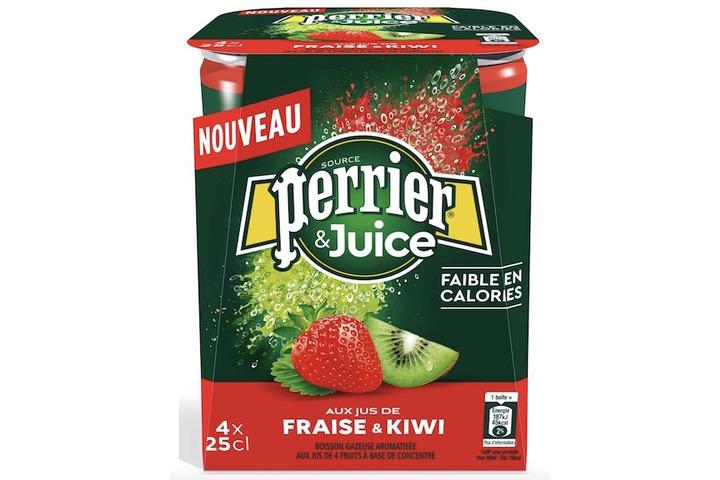 Газированный напиток Perrier Киви-клубника, ЖБ 0.25 литра