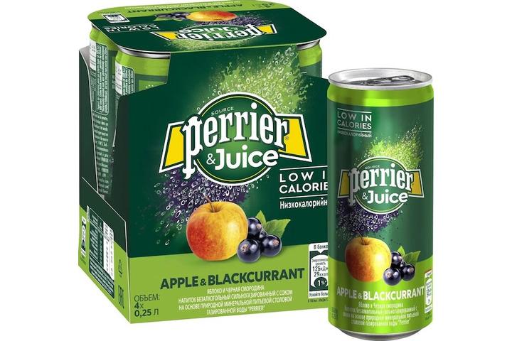 Газированный напиток Perrier с соком яблока и черной смородины, 250 мл