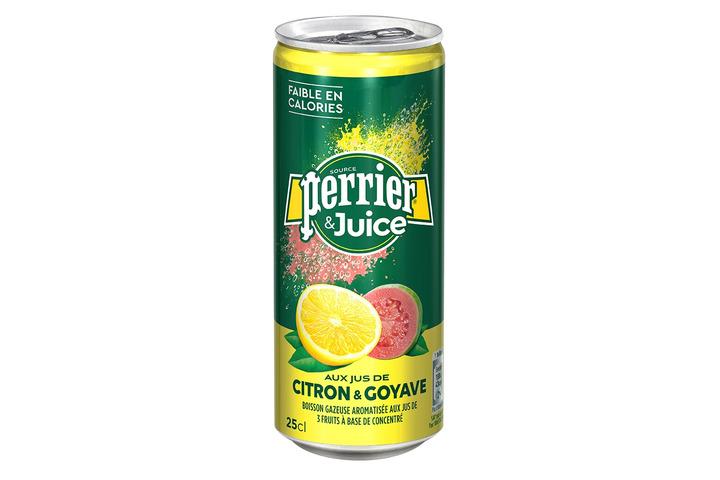 Газированный напиток Perrier с соком лимона и гуавы, 250 мл