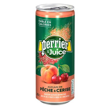 Газированный напиток Perrier с соком персика и вишни, 250 мл
