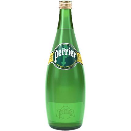 Вода Perrier минеральная газированная, стекло 0.75 литра