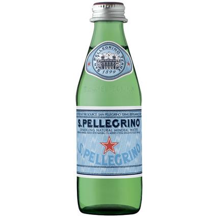 Вода Сан Пеллегрино (San Pellegrino) газ. стекло 0.25 литра - купить и заказать с доставкой