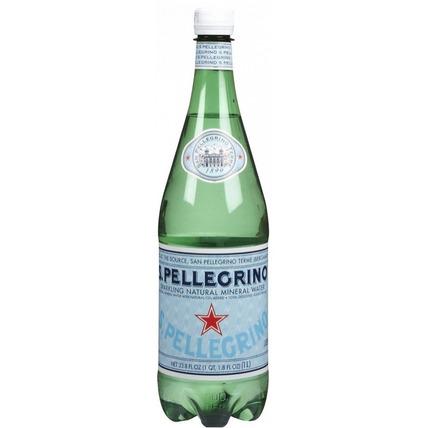 Вода Сан Пеллегрино (San Pellegrino) газ. 1 литр - купить и заказать с доставкой