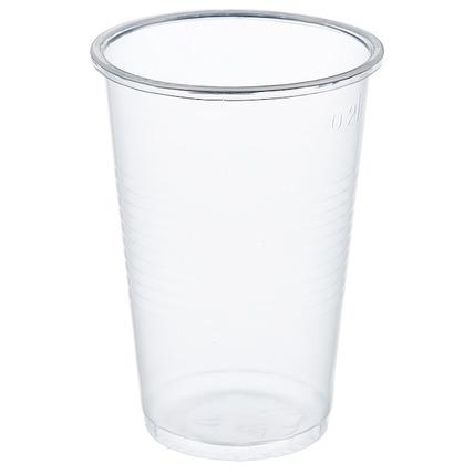 Стаканы пластиковые, для холодных и горячих напитков, прозрачные, 200 мл
