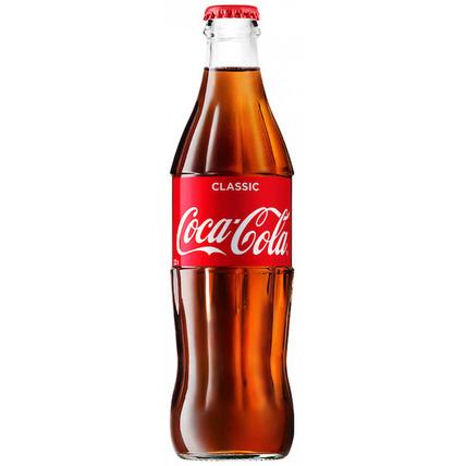 Газированный напиток Coca-Cola, стекло 0.33 литра