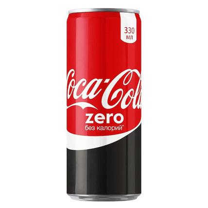 Газированный напиток Coca-Cola zero, 0.33 литра