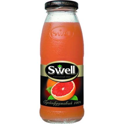 Сок СВЕЛЛ (SWELL) Красный грейпфрут стекло 0.25 литра