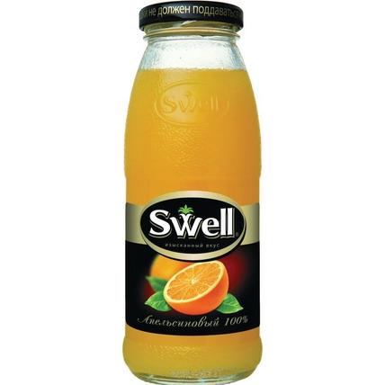 Сок СВЕЛЛ (SWELL) Апельсин с мякотью стекло 0.25 литра