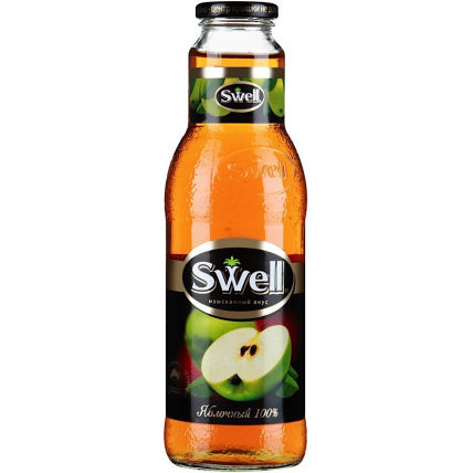Сок СВЕЛЛ (SWELL) Яблоко стекло 0.75 литра