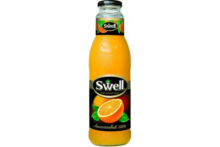 Сок СВЕЛЛ (SWELL) Апельсин с мякотью стекло 0.75 литра