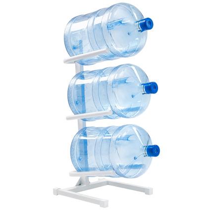 Подставка белая для 3-х бутылей воды
