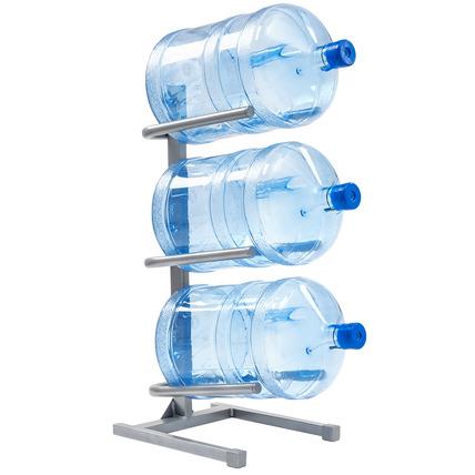 Подставка серая для 3-х бутылей воды