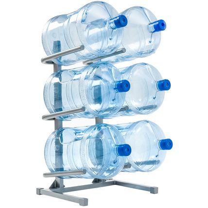 Подставка серая для 6 бутылей воды